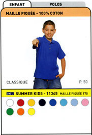 Polo enfant Summer Kids 170 blanc